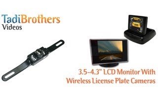 aftermarket wireless license backup camera system with small monitor from www tadibrothers com
