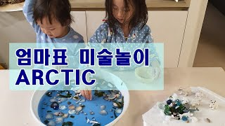 [엄마표미술놀이] 북극/arctic/미술놀이/촉감놀이