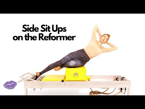 Side Sit Ups On The Reformer | Online Pilates Classes