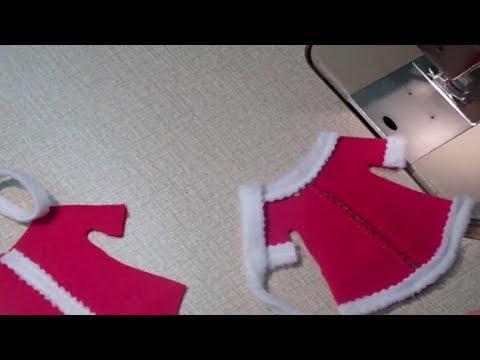 Part 4 DIY Santa Girl Dress for your Cutlery - Lilo Siegel
