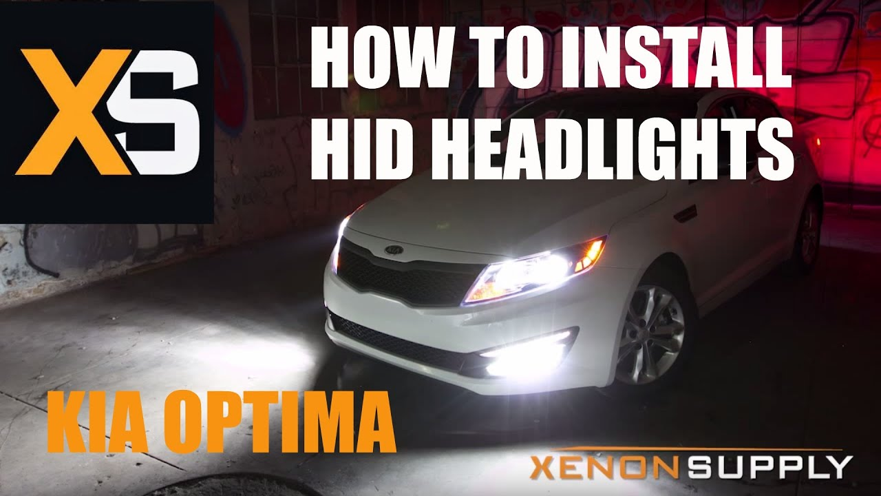 kia optima how to install hid xenon w wiring harness 2011 youtube [ 1280 x 720 Pixel ]