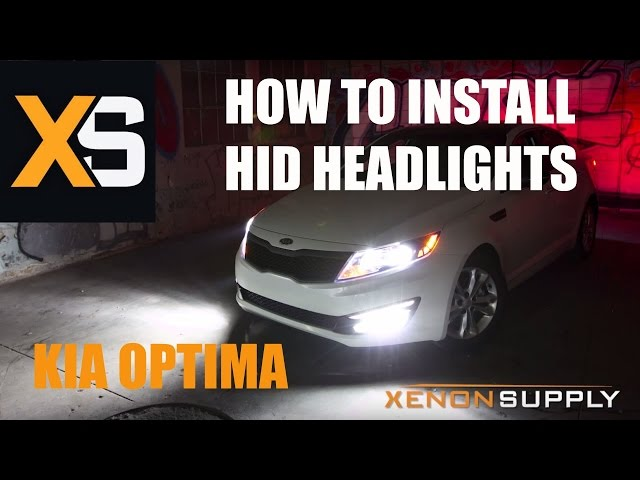 Kia Optima How To Install Hid Xenon W Wiring Harness 2017 You