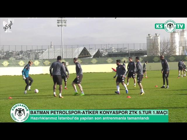 Takımımız Batman Petrolspor maçının hazırlıklarını İstanbul'da tamamladı