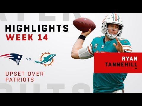 Ryan Tannehill Highlights in Upset Over Patriots