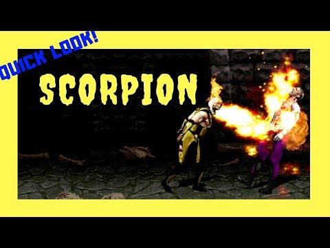 Quick Look! - Scorpion Gameplay (MKP Revitalized)