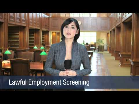 Lawful Employment Screening