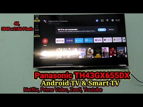 Panasonic VIERA TH-43GX655DX 43 inch LED 4K TV Panasonic 4K HDR Android LED TV GX655 unboxing latest