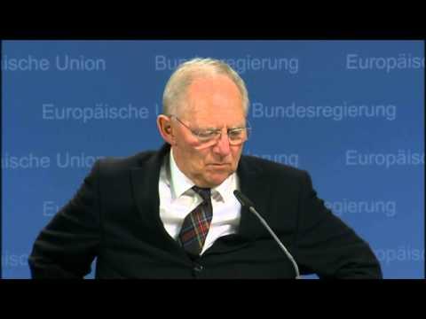 Extraordinary Eurogroup meeting - Wolfgang SCHÄUBLE, German Minister for Finance