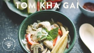Tom Kha Gai - Thai Coconut Chicken Soup - Honeysucklecatering