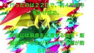 このビデオは 麻倉未稀に送られた千羽鶴のわけ.