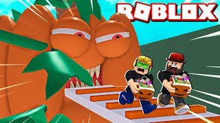 ESCAPE EVIL HALLOWEEN PUMPKIN in ROBLOX TRICK OR TREAT OBBY / BLOX4FUN