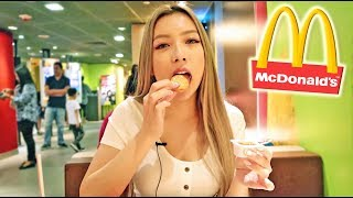 First time eating McDonald's in Hong Kong