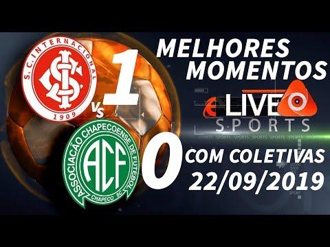 e-Live Sports I Internacional 1 X 0 Chapecoense I Melhores Momentos I Coletivas I 22/09/2019
