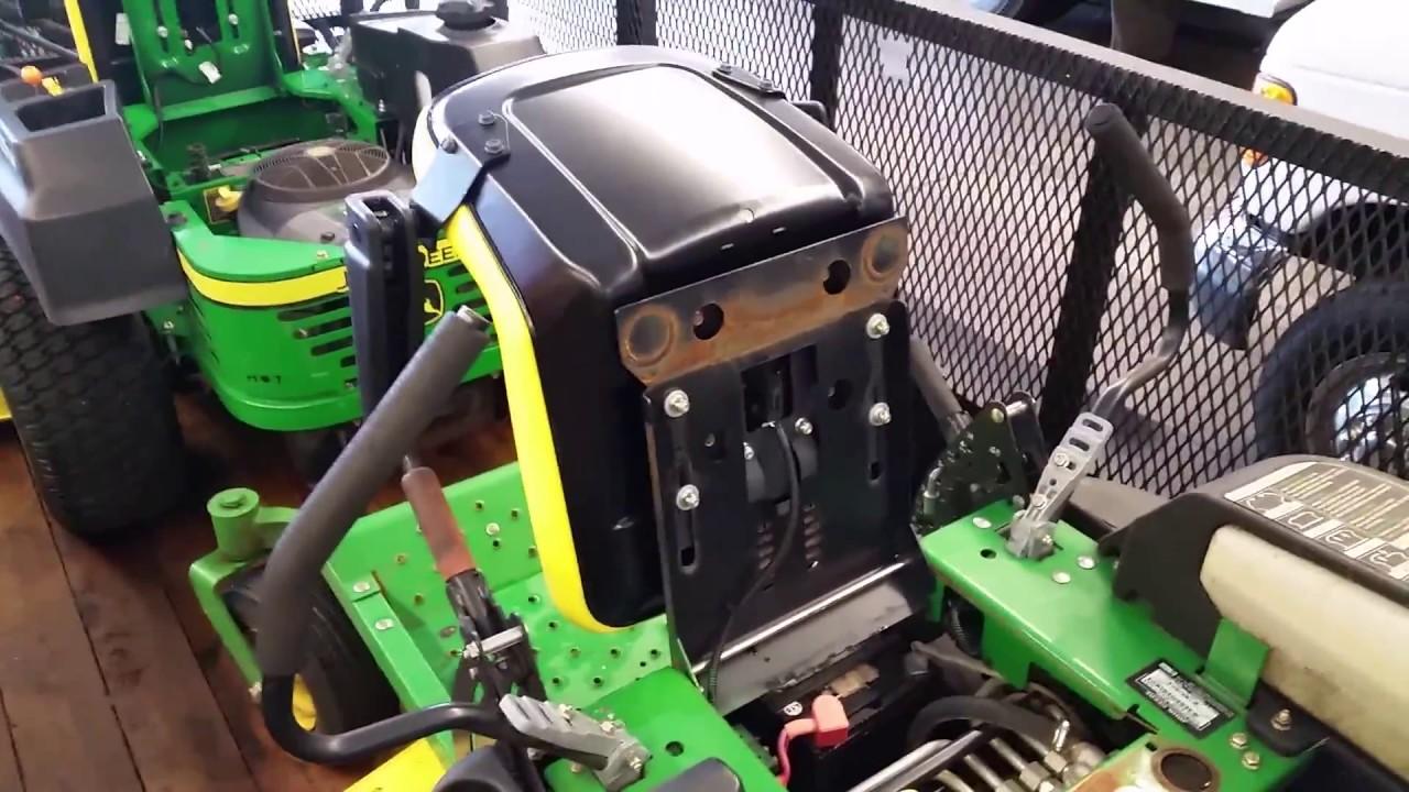 John Deere Seat Switch Wiring Diagram Dlc John Deere Z425 Seat Change Youtube