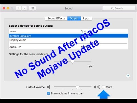 No Sound After Mojave Update (Solved)