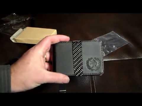 RC Fibers Hybrid Leather Wallet Money Clip With Carbon Fiber Clip