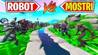 TEAM ROBOT VS TEAM MOSTRI solo PICCONE (MINIGIOCO) | Fortnite ITA