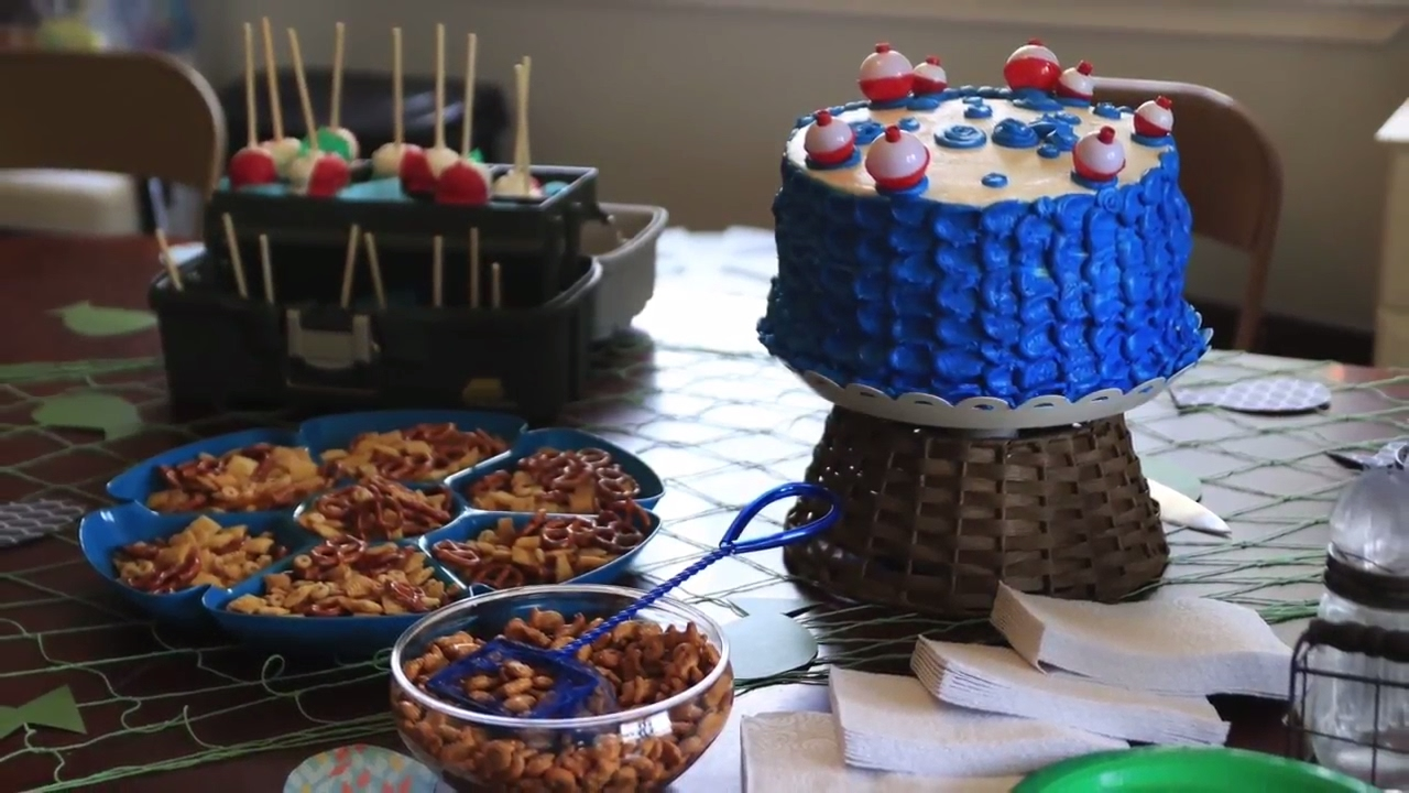 ADORABLE Fishing Themed Baby Shower (pic Slide Show At End)