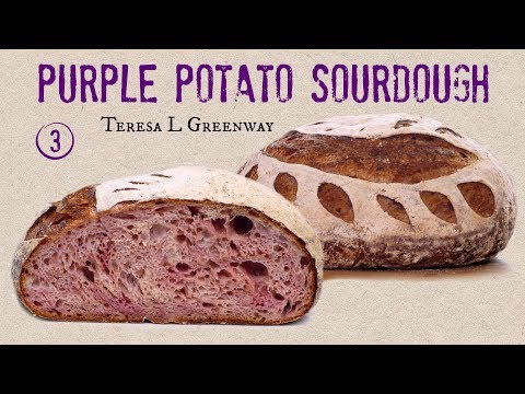 Purple Sweet Potato Sourdough Bread - 3