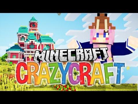 Disney Castle! | Ep 3 | Minecraft Crazy Craft 3.0
