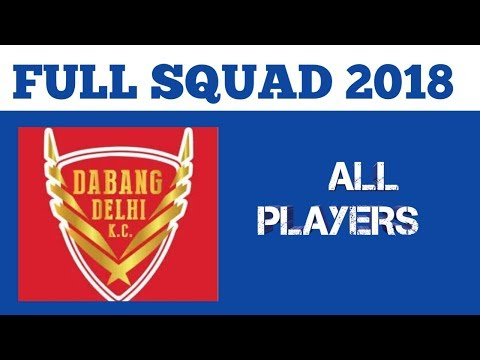 Dabang Delhi team full squad 2018 || By A2Z Diaries ||