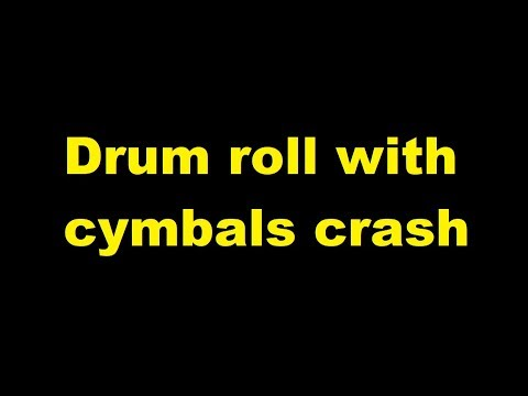 drum roll with cymbals crash sound effect youtube. Black Bedroom Furniture Sets. Home Design Ideas