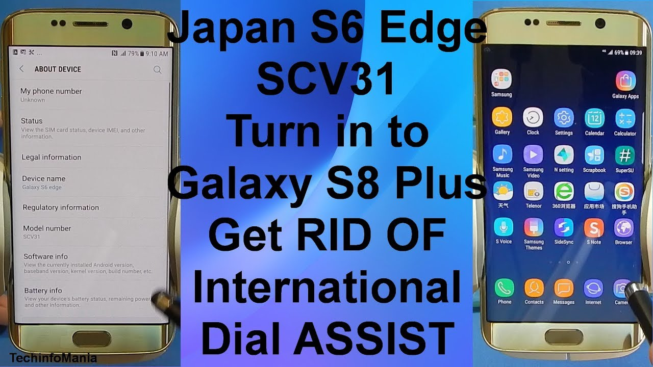 Japan Galaxy S6 Edge SCV31 to S8 Plus