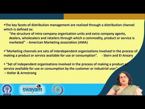 Lecture 36 : Distribution Channel Management: Distribution Channels: Part I