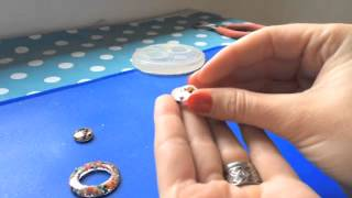 Resin Earrings Tutorial/ How to make Resin Earrings Jewellery/ how to use a silicone mould