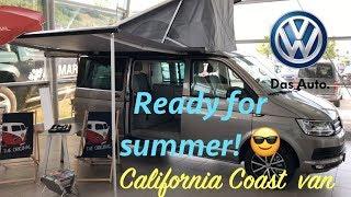 Volkswagen California Coast camper van 2018 in depth review in 4K (interor/exterior features!)