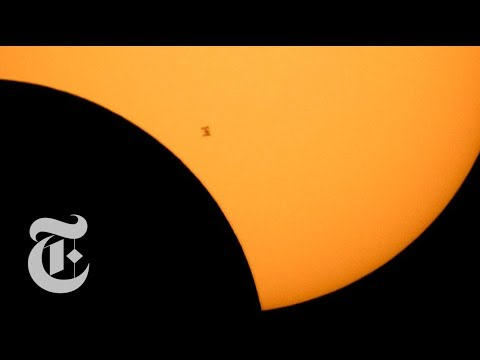 The Solar Eclipse Seen From The US to Space