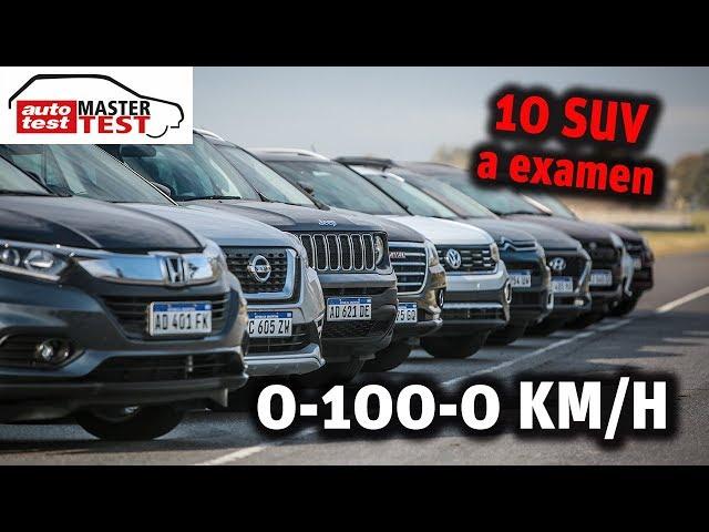 MASTER TEST: los 10 SUV a prueba en el 0-100-0 km/h