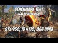 Assassin's Creed Odyssey on Geforce GTX 950, Low to ultra high Benchmark