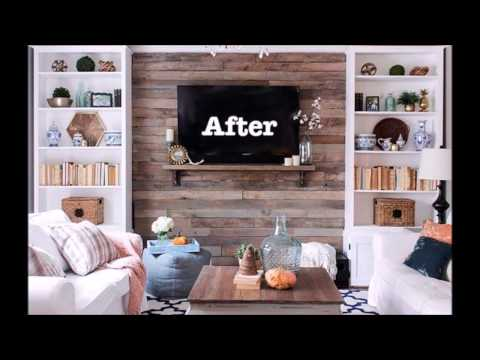 Wood Pallet Accent Wall - Creative Wall Decoration Interior Idea