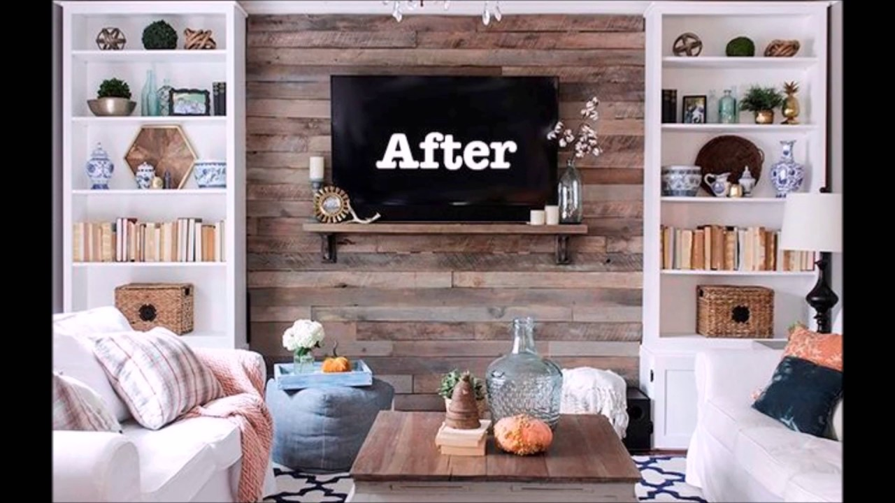 Wood Pallet Accent Wall Creative Wall Decoration Interior Idea