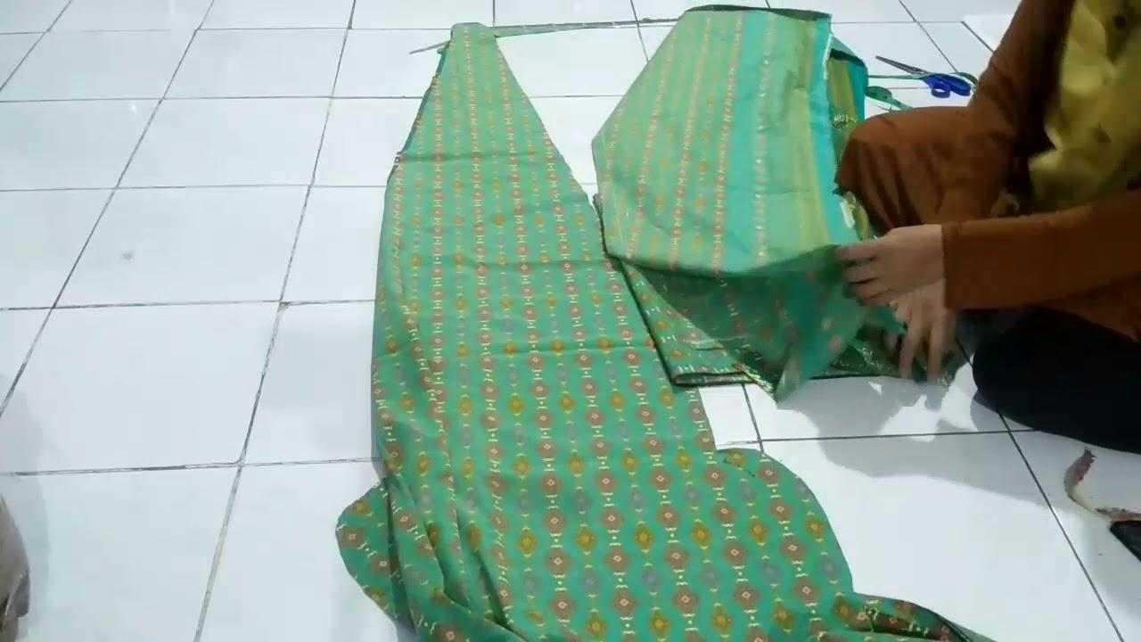 Cara Membuat Pola Baju Gamis Batik Sederhana Youtube