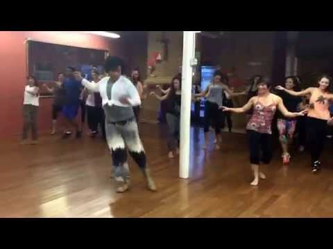 Ana Laidley teaching samba at Brasil Brasil Cultural Center to all the beautiful ladie in the house