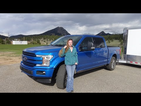 2019 Ford F150 Lariat with 5.0L Coyote engine, trailer review with Kent and Kelsey