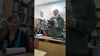 Поетът Валери Станков от Варна в Гр библиотека Стоян Дринов Панагюрище 10.11.2017 част 1