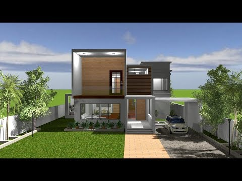 HOUSE TOUR-COOL & BEAUTIFUL CONTEMPEORARY HOUSE    3D FLOOR PLAN    3D WALK THROUGH