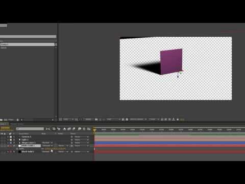 How to create transparent shadow catcher layer in After Effects CS6
