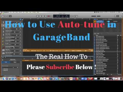 How to Use Auto-Tune in Garageband 2019 Bonus Track at end!