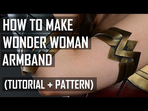 How to make Wonder Woman armband (tutorial)