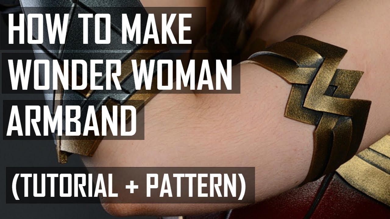 how to make wonder woman armband tutorial youtube