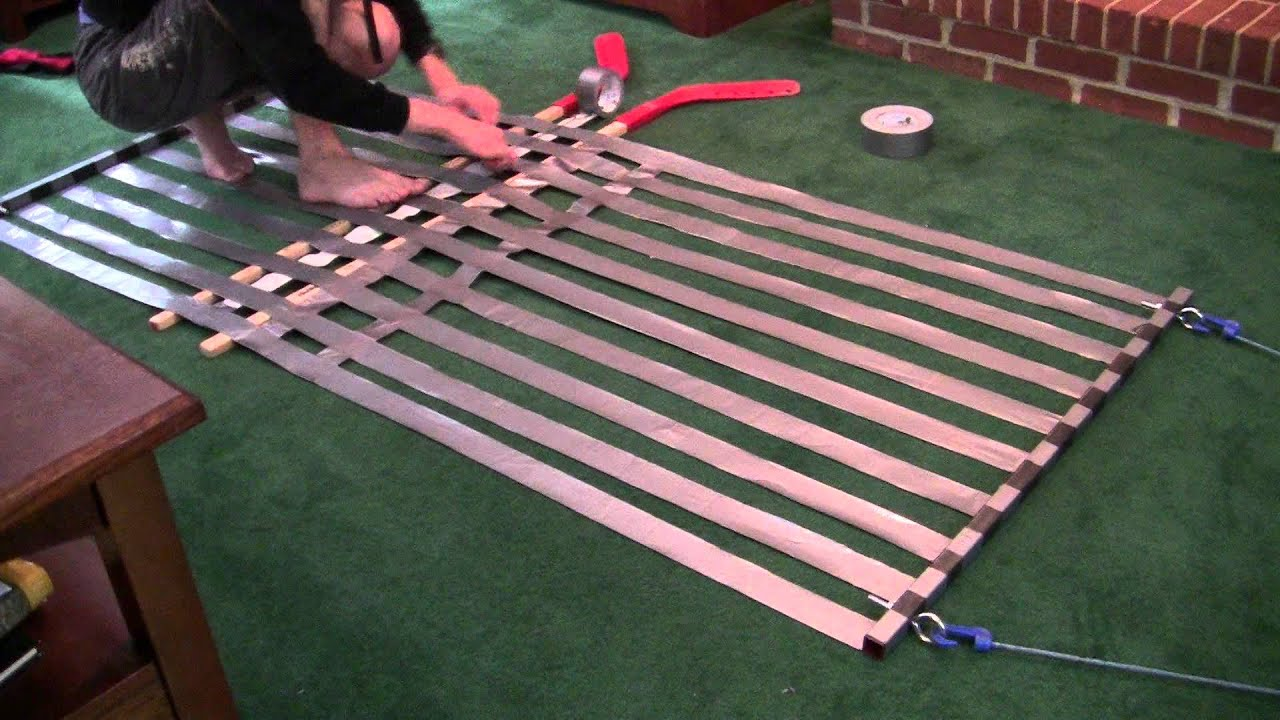 Tool time 8 easy duct tape hammock youtube for Make a rope hammock