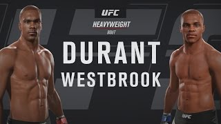 russell westbrook vs kevin durant who would win ea sports ufc 2 gameplay