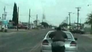 Fat Guy Pushing A Car
