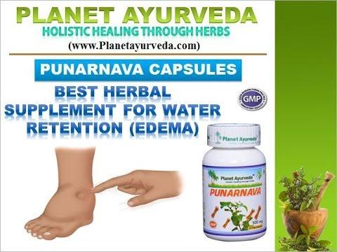 Herbal Remedy for Water Retention, Fluid Retention, EDEMA Treatment - PUNARNAVA CAPSULES