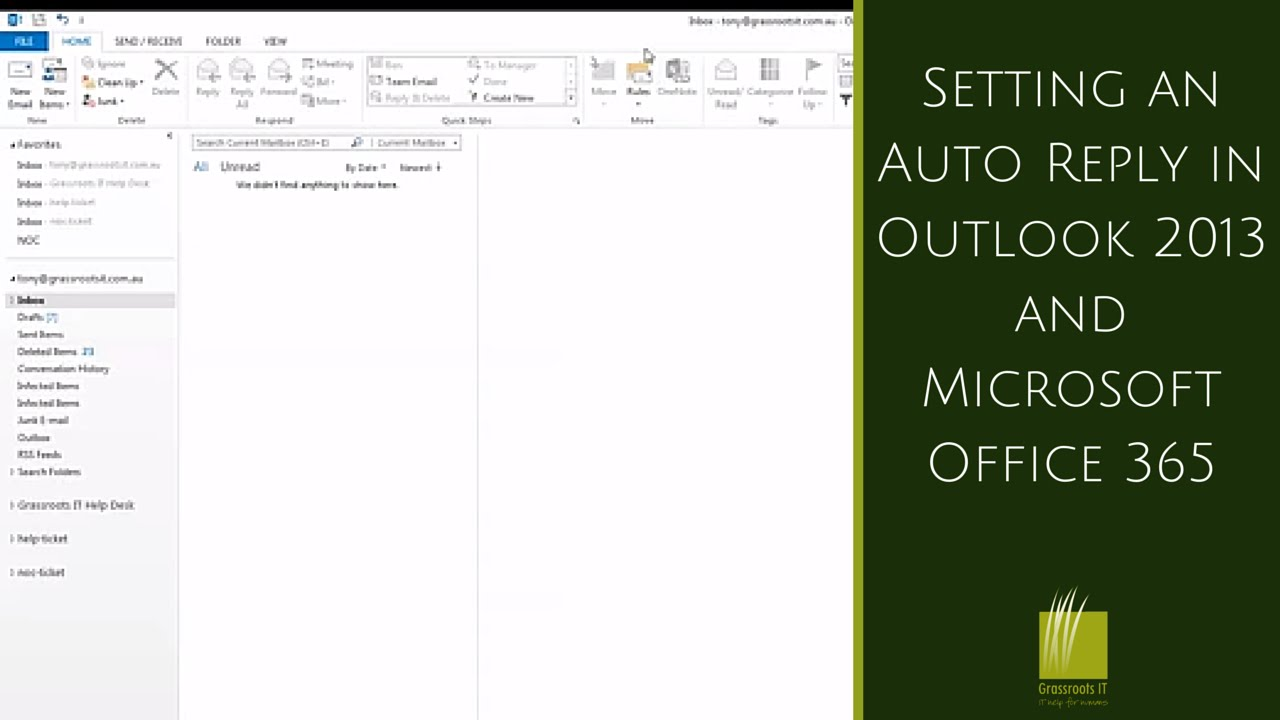 Setting An Auto Reply In Outlook 2013 And Microsoft Office 365