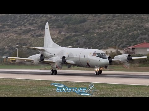 Lockheed P-3C Orion - Close-up Takeoff with Awesome Engine Sound - Split Airport SPU/LDSP
